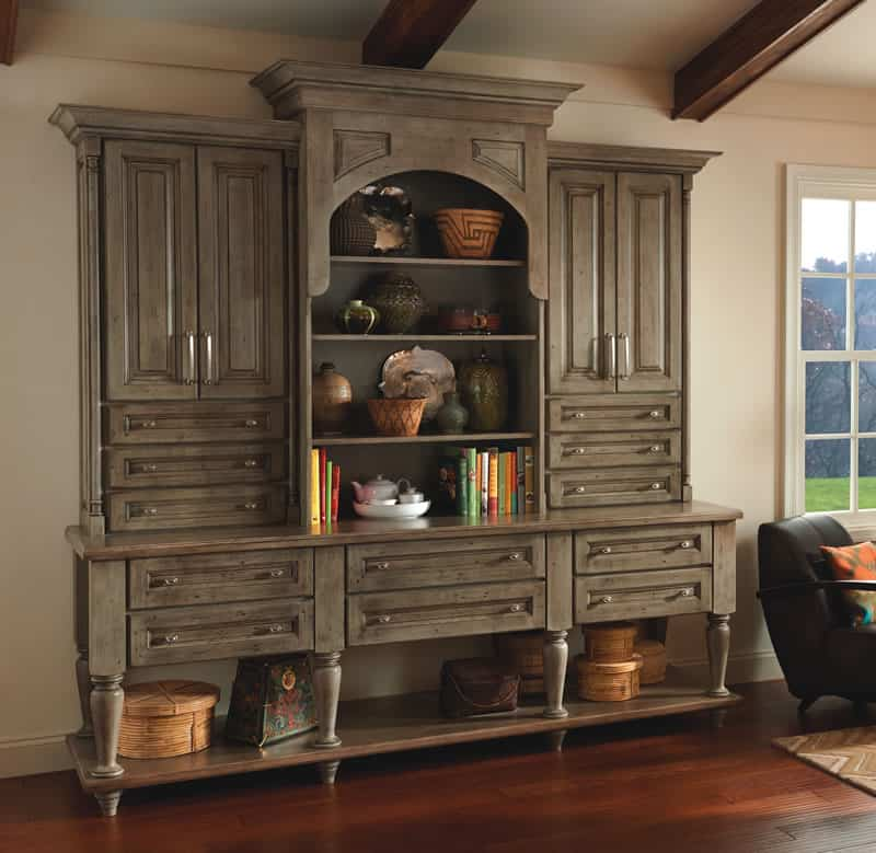 Mallory Cherry Hutch with Yorktowne Cabinetry
