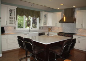 Open and inviting kitchen in Newtown, PA by Sycamore Kitchens